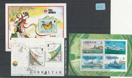 Gibraltar    Posten/Lot     Blöcke   Postfrisch**   MiNr. Block 16-18 - Gibraltar