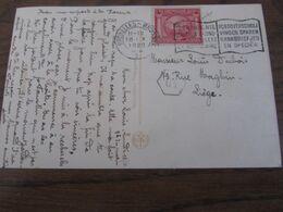 Carte Fantaisie Affranchie Avec Le N° 180 (J.O. D'ANVERS) Et Oblitérée BXL 1 En 1920 - Belgio