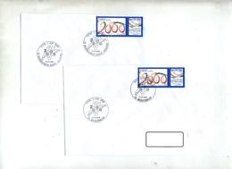 Lettre Cachet Montbron Barbezieux Vive 2000 - Cachets Commémoratifs