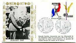 Bureau Temporaire GRANDE SYNTHE - 14 Septembre 1985 - Victoire Et Retour à La Paix - Y 242 - Oorlog 1939-45
