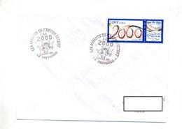 Lettre Cachet  Tevieres Enfant Fete 2000 - Cachets Commémoratifs