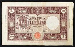 1000 Lire Grande M Testina B.I.12 10 1946 Bel BB Naturale Piccolo Taglietto LOTTO 3256 - [ 2] 1946-… : Républic
