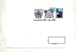 Lettre Cachet  Saint Louis Fete 2000 - Marcophilie