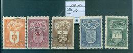 756-760-1 Oblitéré  Côte 21.00€ - Belgium