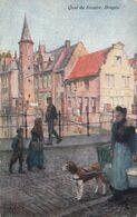 Illustrateur Illustration Raphael Tuck Oilette Quai Du Rosaire Bruges Brugge Voiture à Chien Attelage - Tuck, Raphael