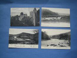 4  ANCIENNES CARTES DE LA VALLEE DE L'AMBLEVE.// LOT 1...NAZE...ROANNE-COO..  ( Cartes Envoyées Vers Harzé ) - Stoumont