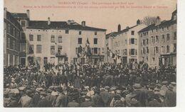 CPA  MIRECOURT FETE PATRIOTIQUE DU12 AVRIL 1912  REMISE DE LA MEDAILLE COMMEMORATIVE DE 1870 AU ANCIENS COMBATTANTS - Autres Communes