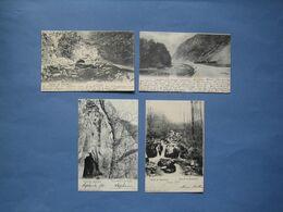 4  ANCIENNES CARTES DE LA VALLEE DE L'AMBLEVE.// LOT 2 -.LA GLEIZE-BORGOUMONT ( Cartes Envoyées Vers Harzé ) - Aywaille