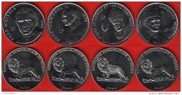 Congo Dem. Rep. Set Of 4 Coins: 1 Franc 2004 UNC - Congo (Repubblica Democratica 1998)