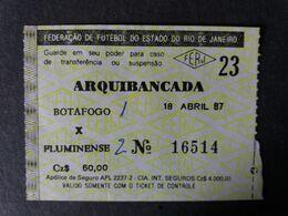 BRESIL BRASIL MATCH 1987  BOTAFOGO / FLUMINENSE  FOOTBALL  SOCCER  FUSSBALL  CALCIO  FOOT - Calcio
