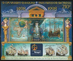 NOUVELLE CALEDONIE - 1998 - BLOC N° 20 ** Vasco De Gama - Hojas Y Bloques