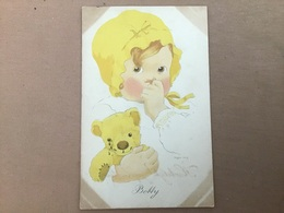 Illustrateur Peggie Doig, Enfant Et Ourson Pleurant - Illustratori & Fotografie