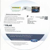 BRD / Bund Köln Dialogpost P DV 01.20 0,45 Euro FRW 2020 Ford Ecosport Automobil GoGreen HU-Plakette - Covers