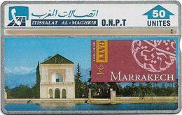 Morocco - ONPT - L&G - Gatt 94, Marrakech - 413A - 1994, 50U, Used - Morocco