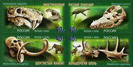 Russia - 2020 - Prehistoric Animals - Mint Stamp Set (se-tenant Block) - 1992-.... Federation