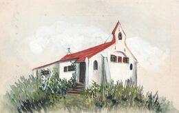 Koksyde  Sint Idesbald  - Kapel - Origineel Stuk Schilderij - - Koksijde