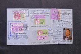 FRANCE - Fiscaux Sur Carte D'Identité Professionnelle De Représentant Délivrée En 1995 - L 69597 - Fiscali