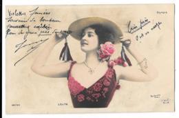 CPA...  . ARTISTIQUE  ...... FEMMES  ..  ON L'APPELLE LOLITA.... OLYMPIA ..REUTLINGER. BE ..VOIR SCAN...1904... - Mujeres