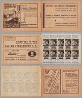 TUBERCULOSE - ANTITUBERCULEUX - ALSACE - MATHIS / 1932 CARNET AVEC PUBLICITES LOCALES ** (ref 8152a) - Erinnophilie