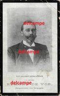 Doodsprentje Edmond De Vos Melden 1847 BURGEMEESTER Leupegem En Overleden Te Gent 1913 Aelbrecht Vanbutsele - Santini