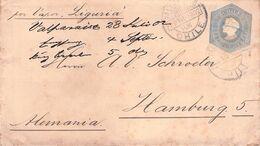 CHILE - STATIONARY ENVELOPE DIEZ CENTAVOS 1902 VALPARAISO - HAMBURG /AS31 - Chile