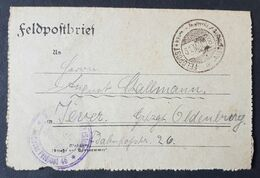 Feldpostbrief Strafgefangenen-Arbeiter Batl. Nr. 2, 31.5.18 - Brieven En Documenten