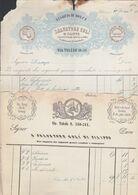 1838 PALERMO - CAV. SALVATORE GULI' - RICEVUTA D'ACQUISTO. - Italia