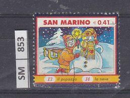SAN MARINO      2003Natale Immagine 14 Usato - San Marino