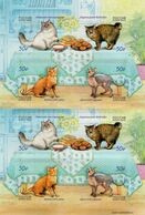Russia - 2020 - Cats - Mint Self-adhesive Miniature Sheet - 1992-.... Föderation
