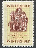 """Vignette """"Winterhulp"""" (*) """"Wilt Gij Elkander Helpen, Helpt Dan Winterhulp"""" - Frankeervignetten"""
