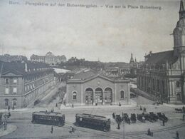 Bern Place Bubenberg Trams - BE Berne