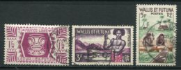 19332 WALLIS Et FUTUNA N°139, 157/7A ° Série De Londres , Polynésien, Fabrication D'un Tapa   1944-57  B/TB - Used Stamps
