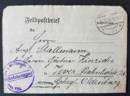 Feldpostbrief Strafgefangenen-Arbeiter Batl. Nr. 2, Stempel Mil. Eisenbahn Div. 2, 26.11.17 - Brieven En Documenten