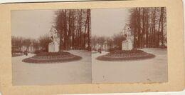 Photo Stéreo Statue Dans Le Jardin De L'hôtel De Ville De Rouen - Photos Stéréoscopiques