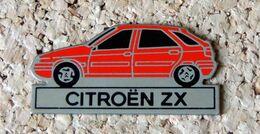 Pin's CITROËN ZX Rouge - Peint - Fabricant Inconnu - Citroën