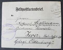 Feldpostkartenbrief Strafgefangenen-Arbeiter Batl. Nr. 2, Stempel Mil. Eisenbahn Div. 2, 16.1.18 - Brieven En Documenten