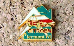 Pin's CITROËN Clermont-Ferrand Puy De Dôme Vert - émaillé à Froid époxy - Fabricant BERAUDY VAURE - Citroën
