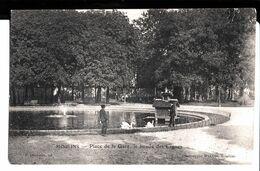 Moulins. Place De La Gare, Le Bassin Des Cygnes. à Melle Rosalie Maillon à St Martin En Coailleux, Saint Chamond. 1906. - Moulins