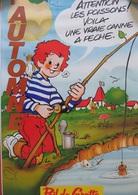 AFFICHE: COMMENT CONSTRUIRE UNE CANNE À PÊCHE (POIL DE CAROTTE)- RECTO-VERSO - Affiches