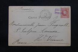 """ESPAGNE - Oblitération Ambulant """"Barcelone Cardedeu """" Sur Carte Postale En 1904 Pour La France - L 69625 - Briefe U. Dokumente"""