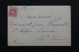 """ESPAGNE - Oblitération Ambulant """"Barcelone Cardedeu """" Sur Carte Postale En 1904 Pour La France - L 69626 - Briefe U. Dokumente"""