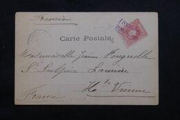 """ESPAGNE - Oblitération Ambulant """"Barcelone Cardedeu """" Sur Carte Postale En 1904 Pour La France - L 69628 - Briefe U. Dokumente"""