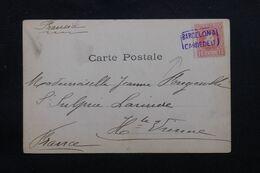 """ESPAGNE - Oblitération Ambulant """"Barcelone Cardedeu """" Sur Carte Postale Pour La France - L 69629 - Briefe U. Dokumente"""