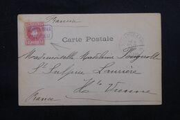 """ESPAGNE - Oblitération Ambulant """"Barcelone Cardedeu """" Sur Carte Postale Pour La France En 1904 - L 69631 - Briefe U. Dokumente"""