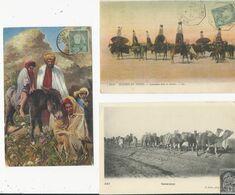 Lot  De 3 Cartes     Caravane - Tunesien