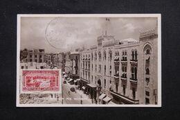 """LIBAN - Oblitération Bilingue """" Beyrouth Canons """" En 1937 Sur Carte Postale - L 69637 - Lettres & Documents"""