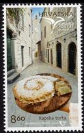 Croatia - 2020 - Euromed 2020 - Traditional Gastronomy - Rab Cake - Mint Stamp - Kroatien