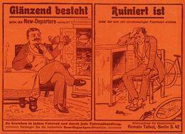 Original-Werbung/ Anzeige 1907 - NEW DEPARTURE FREILAUFNABE / ROMAIN TALBOT - BERLIN - Ca. 180 X 130 Mm - Pubblicitari