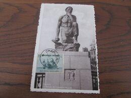 """Carte Vue De Charleroi (Le """"MINEUR"""" De Constantin Meunier) Affranchie Avec Le N° 472  Et Oblitérée Charleroi En 1938. - Other"""