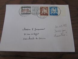 Cachet Postal De BEEZ Sur Lettre Le 30-03-1992. DERNIER JOUR D'ouverture Du Bureau! - Postmark Collection